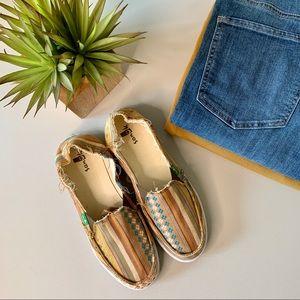 Sanuk Multicolor Canvas Slip-On Shoes